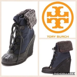 Tory Burch Fairfax Furlined Wedge Booties
